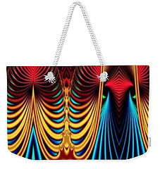 Weekender Tote Bag featuring the mixed media Male And Female by Rafael Salazar