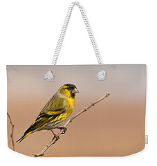 Male Eurasian Siskin Weekender Tote Bag by Liz Leyden