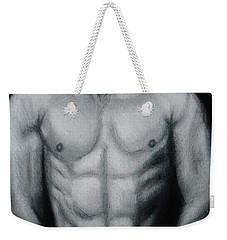 Male Nude Study Weekender Tote Bag by Michael Cross