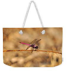 Male Roseate Skimmer Weekender Tote Bag