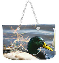 Weekender Tote Bag featuring the photograph Mallard Anas Platyrhynchos by Neal Eslinger