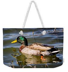 Mallard In Pond Weekender Tote Bag