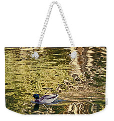 Weekender Tote Bag featuring the photograph Mallard Painting by Kate Brown