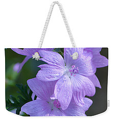 Mallow Blossoms Weekender Tote Bag by Amy Porter
