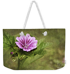 Mallow Hollyhock Weekender Tote Bag by Lena Auxier