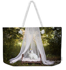 Maltese Princess Weekender Tote Bag by Andrea Auletta