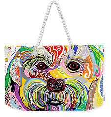 Maltese Puppy Weekender Tote Bag