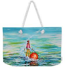 Strolling On The Water Weekender Tote Bag