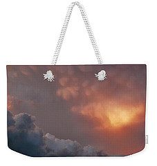 Mammatus At Sunset Weekender Tote Bag by Ed Sweeney