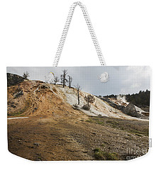 Weekender Tote Bag featuring the photograph Mammoth Hot Springs by Belinda Greb