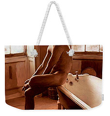 Man And Bath Weekender Tote Bag