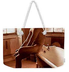 Man And Bath Weekender Tote Bag