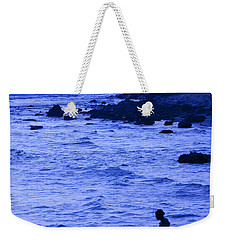Man And Lighthouse Weekender Tote Bag