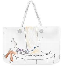 Man And Petunias Weekender Tote Bag