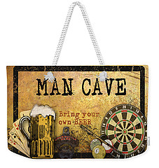 Man Cave-bring Your Own Beer Weekender Tote Bag by Jean Plout