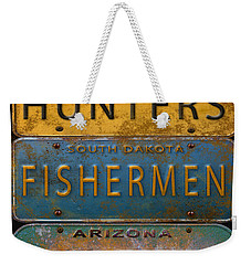 Man Cave-license Plate Art Weekender Tote Bag by Jean Plout