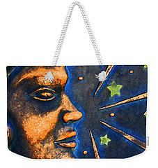 Man In The Moon Weekender Tote Bag by Jennifer Muller