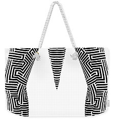 Weekender Tote Bag featuring the painting Man Maze by Rafael Salazar