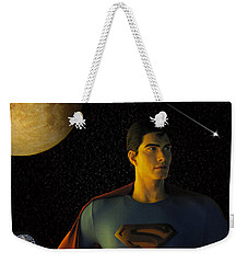 Man Of Steel Weekender Tote Bag