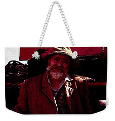 Weekender Tote Bag featuring the digital art Man Of The Sea by Cathy Anderson