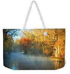 Manatee Spring Run Fog Weekender Tote Bag