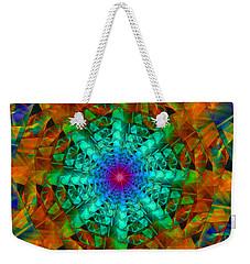 Weekender Tote Bag featuring the digital art Mandala by Ester  Rogers