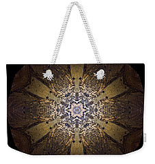 Weekender Tote Bag featuring the photograph Mandala Sand Dollar At Wells by Nancy Griswold