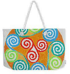 Weekender Tote Bag featuring the painting Mandala by Sonali Gangane