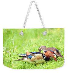 Mandarin Duck Couple Weekender Tote Bag