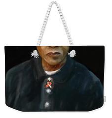 Weekender Tote Bag featuring the digital art Mandela by Vannetta Ferguson
