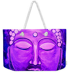 Weekender Tote Bag featuring the painting Mandi's Buddha by Michelle Dallocchio