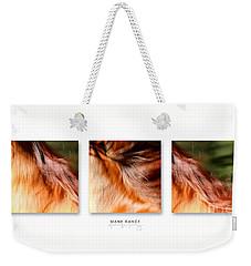 Mane Dance Triptych Weekender Tote Bag
