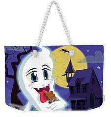 Manga Sweet Ghost At Halloween Weekender Tote Bag