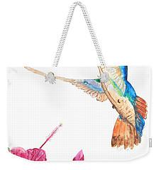 Mango Hummingbird Weekender Tote Bag by Patricia Beebe