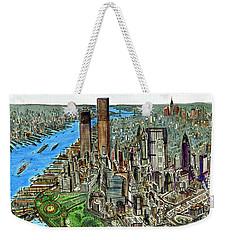 New York Downtown Manhattan 72 Weekender Tote Bag by Art America Gallery Peter Potter