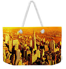 Manhattan And Chrysler Building Weekender Tote Bag