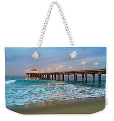 Manhattan Beach Reflections Weekender Tote Bag by Art Block Collections
