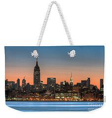 Manhattan Skyline And Pre-sunrise Sky I Weekender Tote Bag