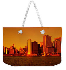 Manhattan Skyline At Sunset Weekender Tote Bag