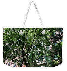 Weekender Tote Bag featuring the photograph Manhattan Upper East Side Late Summer by Andy Prendy