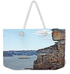 Weekender Tote Bag featuring the photograph Manly Ferry Passing By  by Miroslava Jurcik