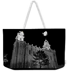 Manti Temple Black And White Weekender Tote Bag