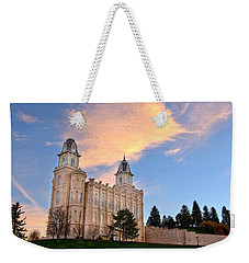 Manti Temple Morning Weekender Tote Bag