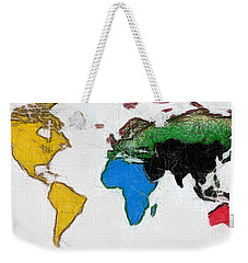 Map Digital Art World Weekender Tote Bag