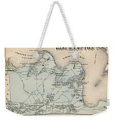 Map Of East Hampton 1873 Weekender Tote Bag