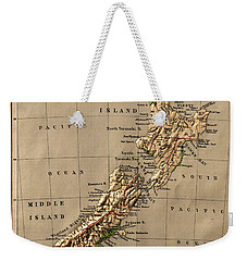 Map Of New Zealand 1880 Weekender Tote Bag
