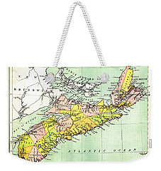 map of Nova Scotia - 1878 Weekender Tote Bag