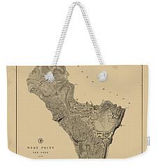Map Of West Point 1883 Weekender Tote Bag