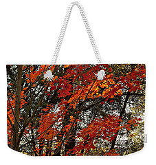 Weekender Tote Bag featuring the photograph Maple Glory In Paradise by Michele Myers