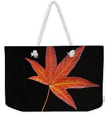 Maple Leaf On Black 2 Weekender Tote Bag